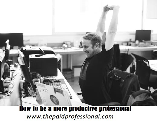 HOW TO BE A MORE PRODUCTIVE PROFESSIONAL